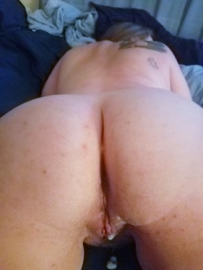 amateur photo We really need a girl to help clean this mess up with her tongue 😋