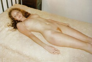 amateur photo Lily Cole has a copper strip