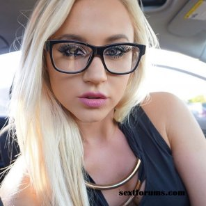 amateur photo Glasses and blonde...
