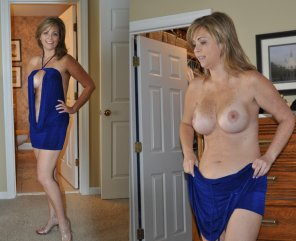 amateur photo Sexy Blue Dress