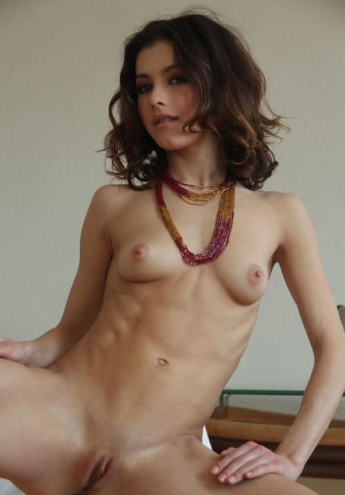 Curly Brunette Big Tits