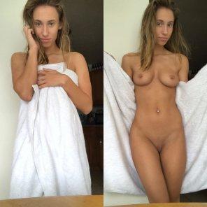 amateur photo Towel Flashing