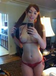 amateur photo Red bathing suit