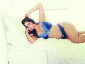 amateur photo Blue lingerie