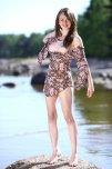 amateur photo Nastya on the rocks