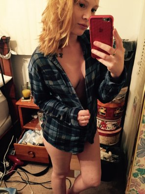 amateur photo Flannel tease