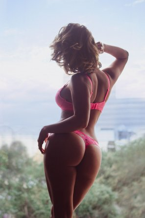 amateur photo Pink lingerie