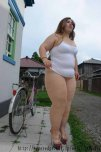 amateur photo No panties bike rider