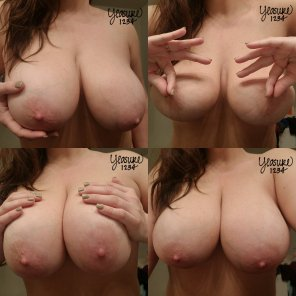 amateur photo Couldn't pick just one, so you get 4x the titties 😁