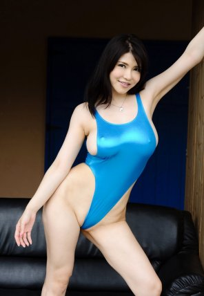 amateur photo Blue Spandex