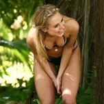amateur photo Kimberley Garner Gets Giddy During a Photoshoot in a Skimpy Bikini