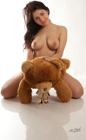 amateur photo Naughty Girl and her Naughty Teddy