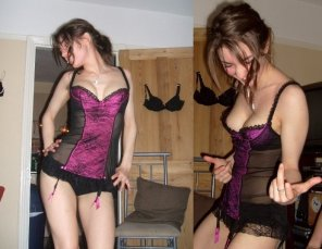amateur photo dancing in lingerie