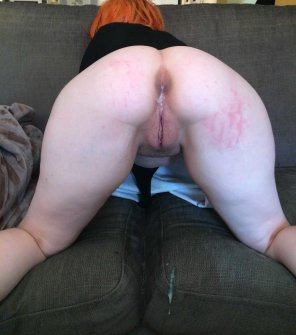 amateur photo Cumshot dripping [f]rom my spanked ass
