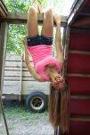 amateur photo Hangin Upside Down