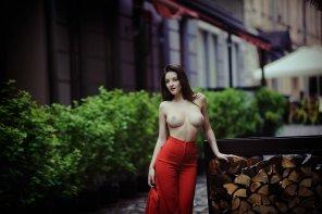 amateur photo Red Pants
