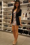 amateur photo Nerdy Girl Shopping For Heels