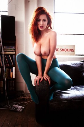 amateur photo Teal Tights