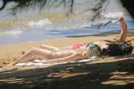 amateur photo Margot Robbie at the beach