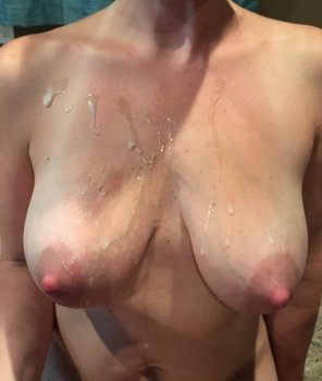 amateur photo [Image] My wife loves them covered in cum
