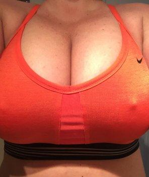 amateur photo Gym selfie!