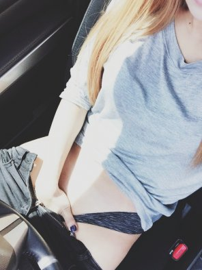 amateur photo Original Content[f] When you are bored in your car and can't stop thinking about sex.