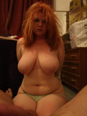 amateur photo Redhead on her knees