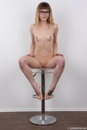 amateur photo On a stool