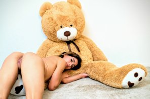 amateur photo A girl and her bear
