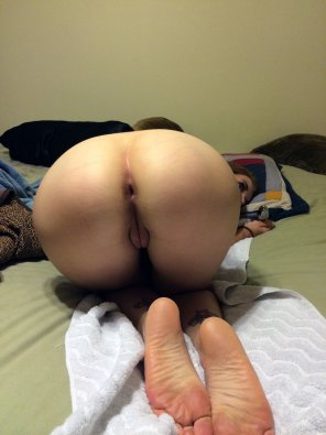 amateur photo Bent Over and Ready