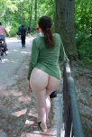 amateur photo Ass near the bike trail.