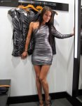 amateur photo Shiny dress