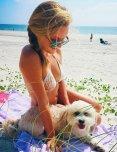 amateur photo Beach with dog