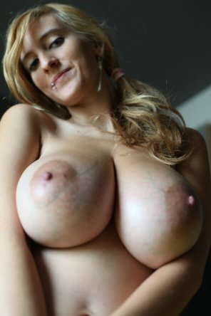amateur photo Showing off Her Big Natural Boobs