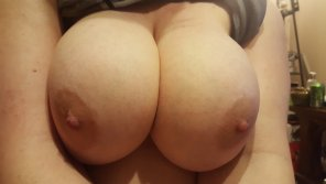 amateur photo My big round boobs :)