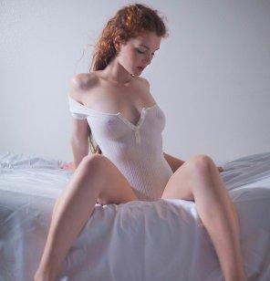 amateur photo White onesie