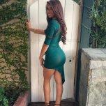amateur photo Damn Fine Booty In Tight Green Dress