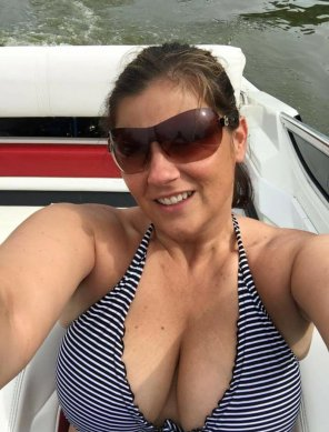 amateur photo Motorboat on a motorboat