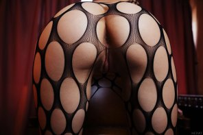amateur photo Beautiful ass in netting