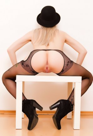 amateur photo In Stockings on the table