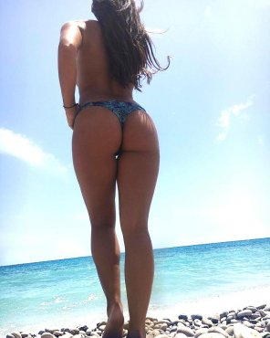 amateur photo Tanned ass in a bikini