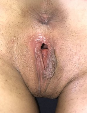 amateur photo Sloppy, meaty, freshly-used college pussy.