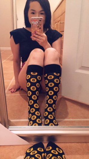 amateur photo Do you like my new socks?