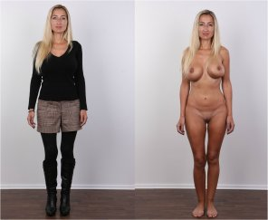 amateur photo Blonde casting