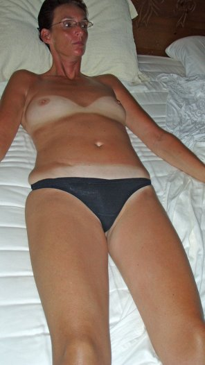 amateur photo My wife showing oftan lines!
