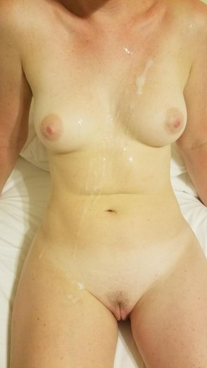 amateur photo Covered my wife's body