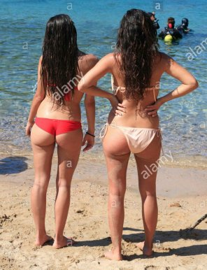 amateur photo Asses at the beach