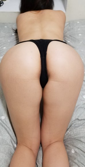 amateur photo Bent over for you 😘