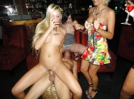 Blonde slut getting fucked in the bar.