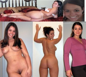 amateur photo more of the sexy brunette - onoffcollage2